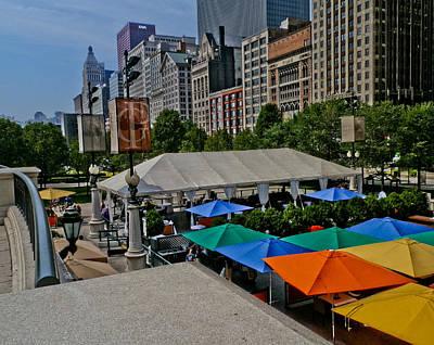 Digital Art - Millenium Park Chicago by Connie Dye