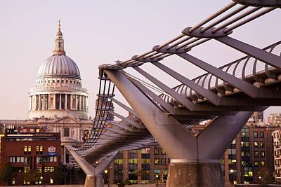 Millennium Bridge And St. Paul's Cathedral I Original by Adam Pender