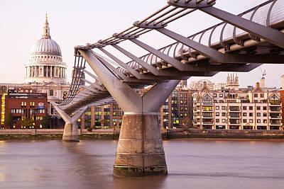 Millennium Bridge And St. Paul's Cathedral II Original by Adam Pender