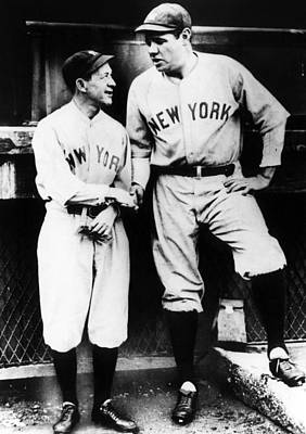 Miller Huggins, And Babe Ruth, Circa Art Print