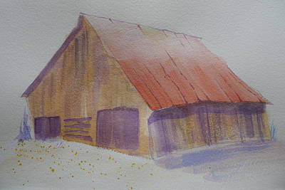 Painting - Millers Barn - A Sketch by Joel Deutsch