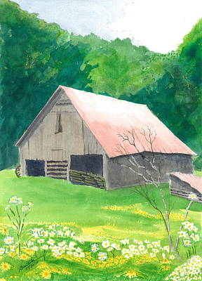 Painting - Millers Barn by Joel Deutsch