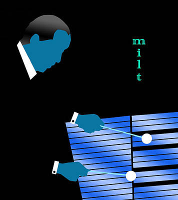 Digital Art - Milt Jackson Blue by Victor Bailey