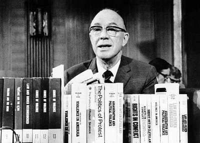Milton Eisenhower Reports To The Us Print by Everett