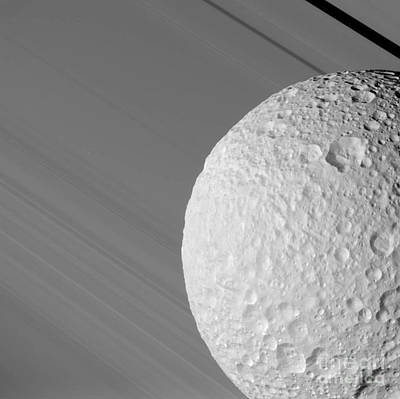 Photograph - Mimas by NASA / Science Source