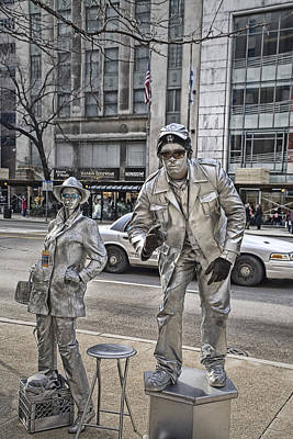 Stiff Photograph - Mime In Chicago No.0018 by Randall Nyhof