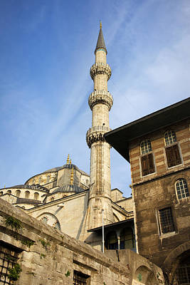 Minaret Of The Blue Mosque Art Print by Artur Bogacki