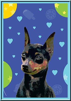 Minature Pinscher Art Print by One Rude Dawg Orcutt