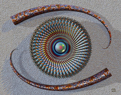Digital Art - Mind's Eye IIi by Manny Lorenzo