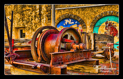 Photograph - Mine Machinery by Linda Constant