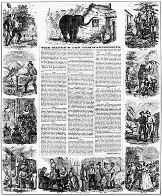 Miners Ten Commandments Art Print by Granger