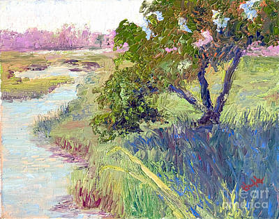Tidal Creek Painting - Mingo Point by Patricia Huff