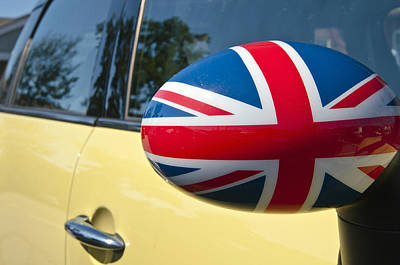 Photograph - Mini Cooper British Flag by Glenn Gordon