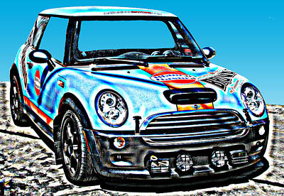 Mini Cooper Competition Art Print by Samuel Sheats