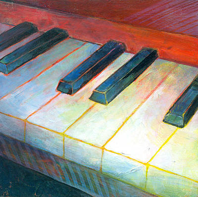 Piano Painting - Mini Keyboard by Susanne Clark