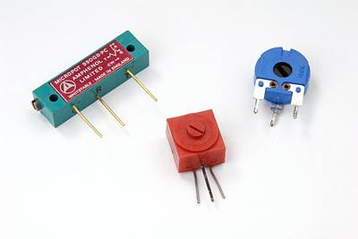 Variable Resistor Photograph - Mini Pcb Potentiometers by Trevor Clifford Photography
