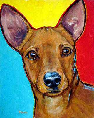 Very Painting - Miniature Pinscher Bright by Dottie Dracos