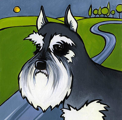Painting - Miniature Schnauzer by Leanne Wilkes