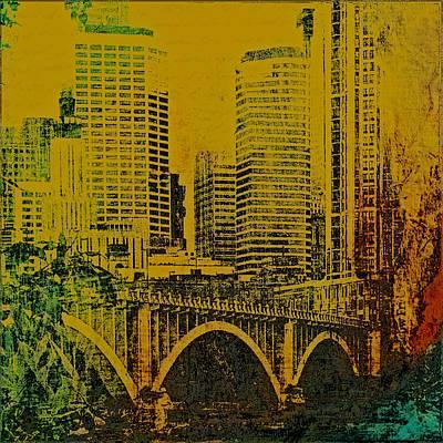 Photograph - Minneapolis Buildings And Bridge by Susan Stone