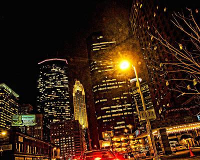 Minneapolis Night Lights Print by Susan Stone
