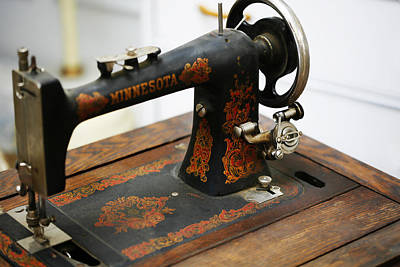 Antique Photograph - Minnesota Sewing Machine 1 by Marilyn Hunt