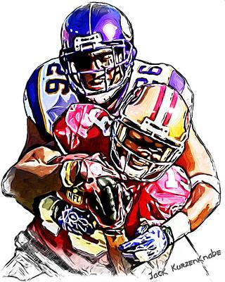 Minnesota Vikings Antoine Winfield - San Francisco 49ers Ted Ginn Jr Art Print by Jack K