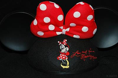 Photograph - Minnie Mouse Ears by Rob Hans