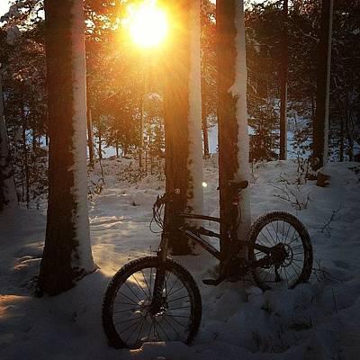 Mtb Photograph - Mintainbiking On Snow #rollersnakes by Thomas Klingenberg