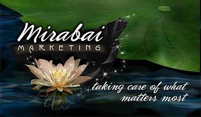 Digital Art - Mirabai Marketing Business Card by Atheena Romney