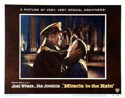 1950s Movies Photograph - Miracle In The Rain, Van Johnson, Jane by Everett