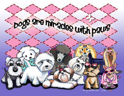 Mixed Media - Miracles With Paws by Catia Cho