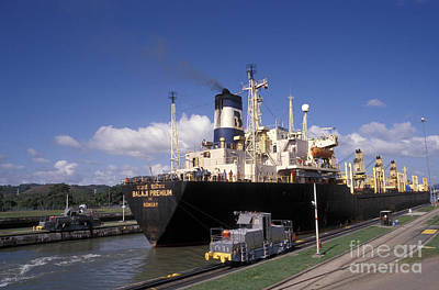 Photograph - Miraflores Locks Panama Canal by John  Mitchell