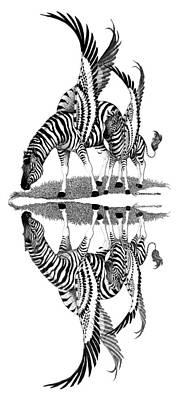 Pegasus Drawing - Mirage by Caroline Czelatko