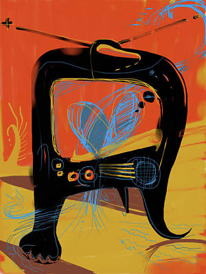 Miro Mixed Media - Miro Andmax Watch Lucy by Russell Pierce