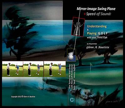 Digital Art - Mirror Image Swing Plane C by Glenn Bautista