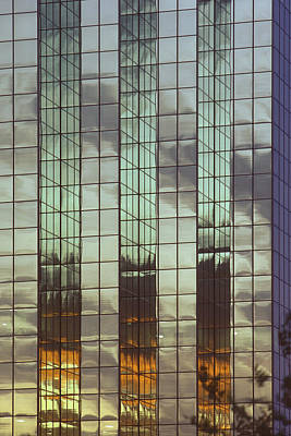 Photograph - Mirrored Building by Mark Greenberg