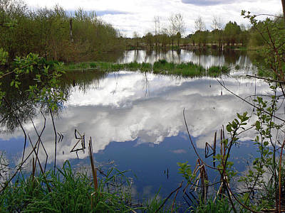 Cloud Like Glass Photograph - Mirroring The Heavens  by Pamela Patch