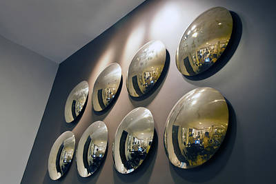 Wide Angled Glass Mirror Photograph - Mirrors Mirrors More Mirrors by Kantilal Patel