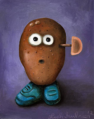 Misfits Painting - Misfit Potato Head 3 by Leah Saulnier The Painting Maniac