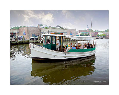 Heading Out Photograph - Miss Anne - Annapolis by Brian Wallace