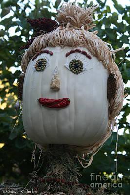 Photograph - Miss Julia Scarecrow by Susan Herber