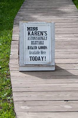 Photograph - Miss Karen's by Guy Whiteley