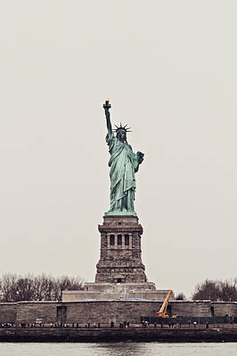 Goddess Of Liberty Photograph - Miss Liberty by Benjamin Matthijs
