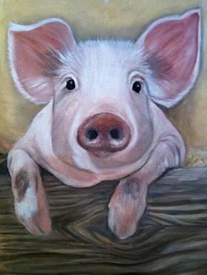Miss Piggy Art Print by Stephanie L Carr