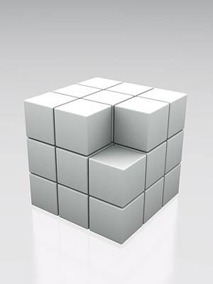 Missing Cube, Artwork. Art Print