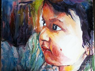 Nepali Painting - Missing Mama by Arjoon KC