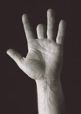 Missing Middle Finger Art Print by Alan Sirulnikoff