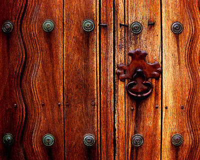 Photograph - Mission Door Handle by Timothy Bulone