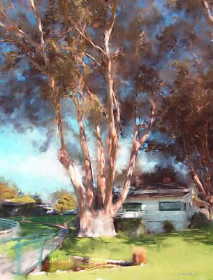 Digital Art - Mission Ranch Eucalyptus by Jim Pavelle
