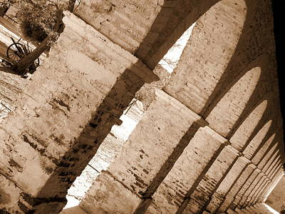 Photograph - Mission San Antonio De Padua Arches by Jeff Lowe